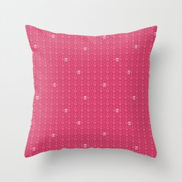 Hugs, Kisses, Love, and Pi - Pink  Throw Pillow
