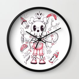 Skulltoons No.4 Wall Clock