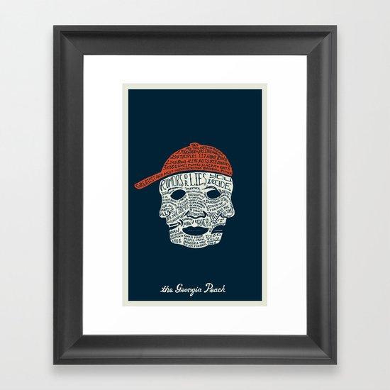 The Georgia Peach Framed Art Print