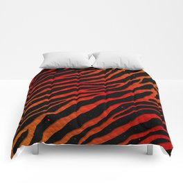 Ripped SpaceTime Stripes - Orange/Red Comforters