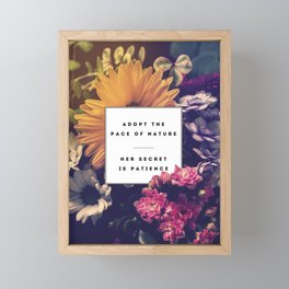 The Pace Of Nature Framed Mini Art Print
