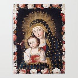Madonna and Child with Bird, 1745 - Peru Poster