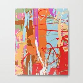 Tree | Abstract Tree Wall Art | Tree Art Print Metal Print