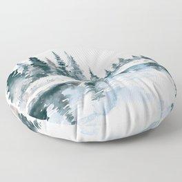Mountain River Floor Pillow