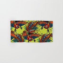 rooster ink chartreuse Hand & Bath Towel