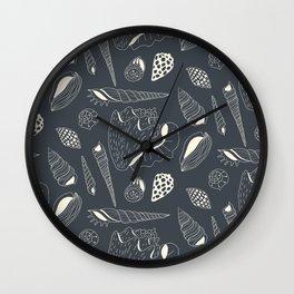 Sea shells pattern Wall Clock