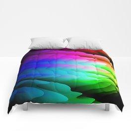 Fingerling Clouds: Elegant Fractal Art Design Comforters
