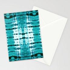 Aqua Satin Shibori Stationery Cards