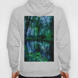 Enchanted Forest Lake Green Blue Hoody