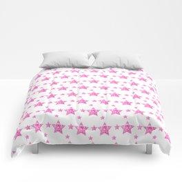 Fushcia Stars Comforters