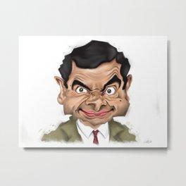 Mr. Bean Metal Print