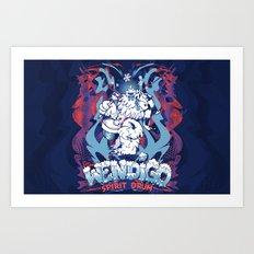 WENDIGO Spirit Drum Art Print