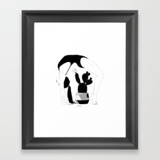 Prickly gymnastic Framed Art Print