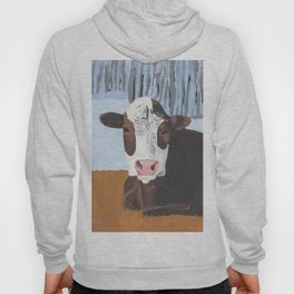 Cow In The Winter Hoody