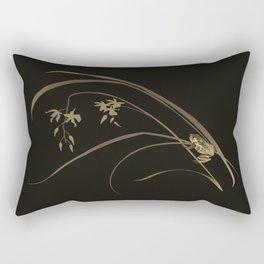 Frog and Ochid Rectangular Pillow