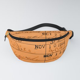 Library Card 23322 Orange Fanny Pack