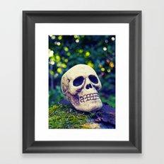 Outdoor skull Framed Art Print