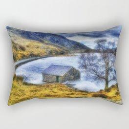 Frozen Lake Ogwen Rectangular Pillow