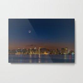 New Moon Over San Diego Metal Print