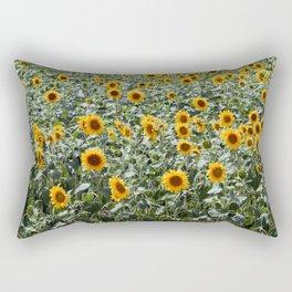 Field of sunflowers texture Rectangular Pillow