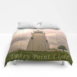 Turkey Point Lighthouse  Comforters