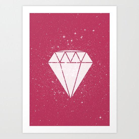 Space Diamond  Art Print