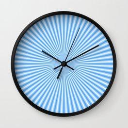 64 Baby Blue Rays Wall Clock
