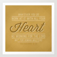 Colossians 3:23 Art Print