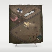 country Shower Curtains featuring Country by Soak