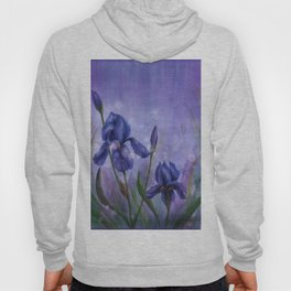 Fleur De Lis Violet Flowers Hoody