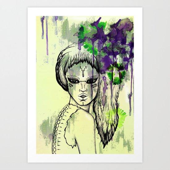Tribal Beauty 1 Art Print
