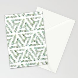 Sea glass - green triskelion Stationery Cards