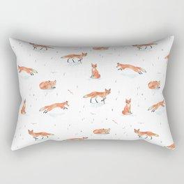 Winter Fox Rectangular Pillow