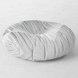 Line art, trippy in gray green metal color Floor Pillow
