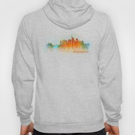 Frankfurt am Main, City Cityscape Skyline watercolor art v3 Hoody