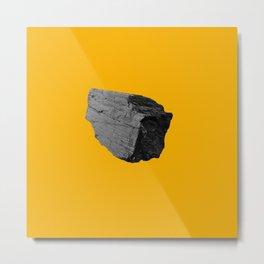 Yellow Boulder Metal Print