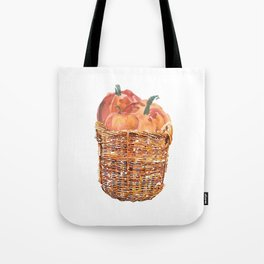 Autumn Basket of Pumpkins Tote Bag
