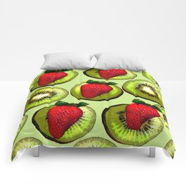 KIWI AND STRAWBERRY COCKTAIL Comforters