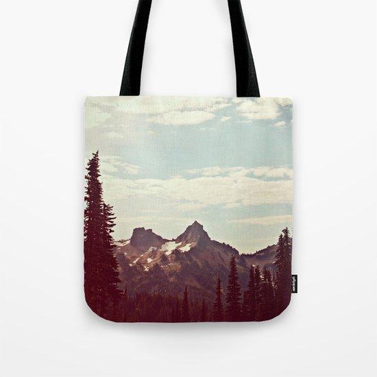 Vintage Mountain Ridge Tote Bag