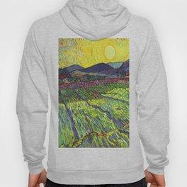 Van Gogh Enclosed Field with Rising Sun Hoody