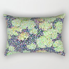 Pointilized Lily Pads Rectangular Pillow