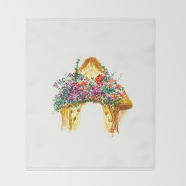 Flower Bungalow Throw Blanket