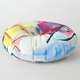 Wassily Kandinsky - Yellow Red Blue Floor Pillow