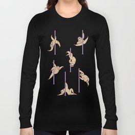 Sloths Pole Dancing Club Long Sleeve T-shirt
