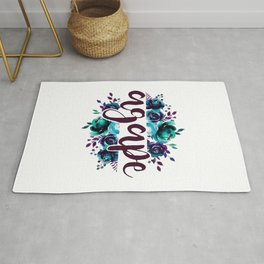 Agape - Christian Watercolor Floral Bible Verse Quote Rug