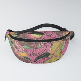 Butterfly Wings in Bright Pink and Lime Fanny Pack
