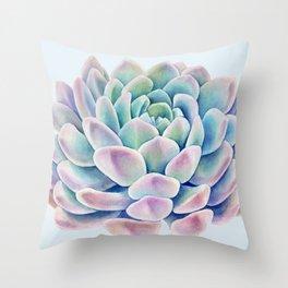 succulent watercolor 11 Throw Pillow