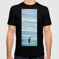 No Hurry Mens Fitted Tee Black MEDIUM