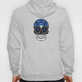 Sugar Skull with Roses and Flag of Estonia Hoody