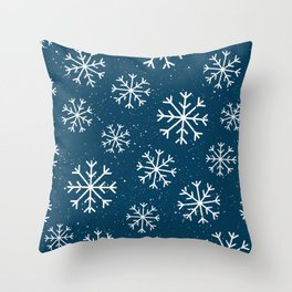 Let It Snow Winter Holiday Pattern Throw Pillow